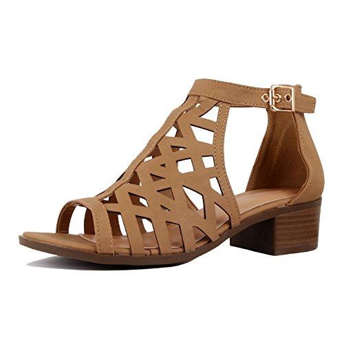 a767e1e106 DREAM PAIRS Women's Roxanne Black Fashion Stilettos Open Toe Pump Heel  Sandals Size 9.5 B(M) ...