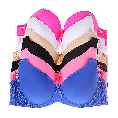 d7dcb5ff9aae Glamorise Women's Plus-Size Elegance Front-Close Lace Underwire Bra, Black,  ...