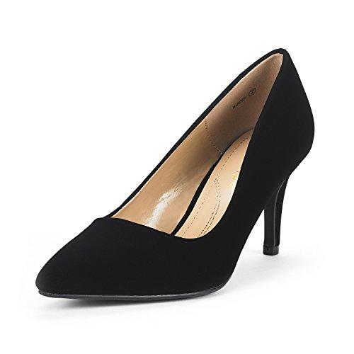 5f640d6820 ... DREAM PAIRS Women's KUCCI Black Nubuck Classic Fashion Pointed Toe High  Heel Dress Pumps Shoes Size 9 M US